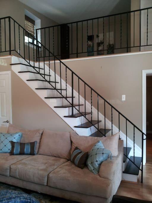 stairs that lead to the loft bedroom