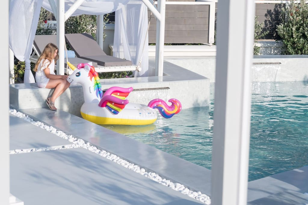 children over 10 years old can happily join the villa!