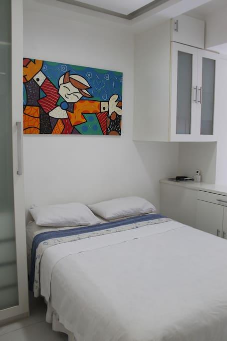 Cama confortavel / Fluffy bed