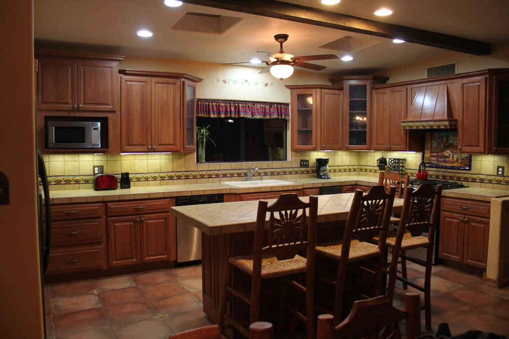 Modern Kitchen with seating for 14 in Dining.