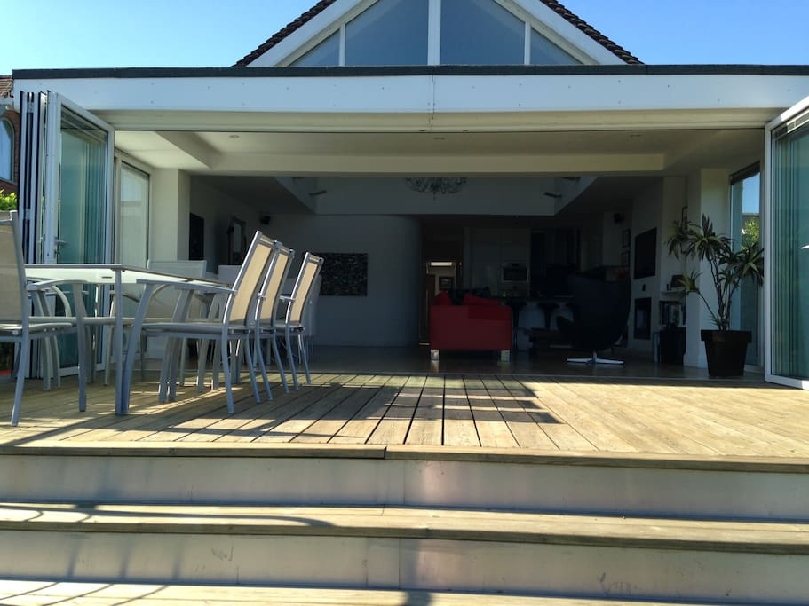 External dining/lounging area on decking