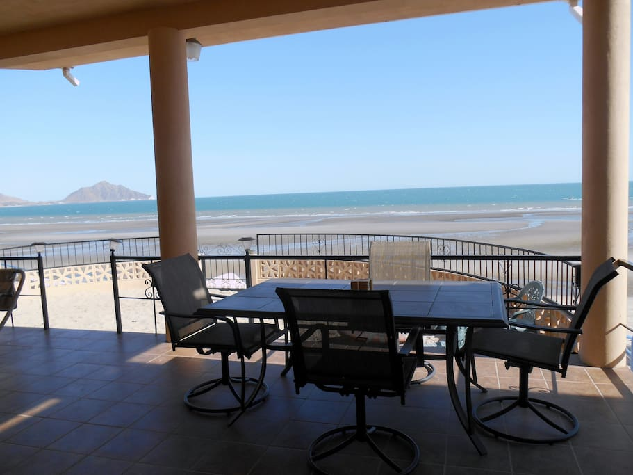 Lower level patio with fantastic view.