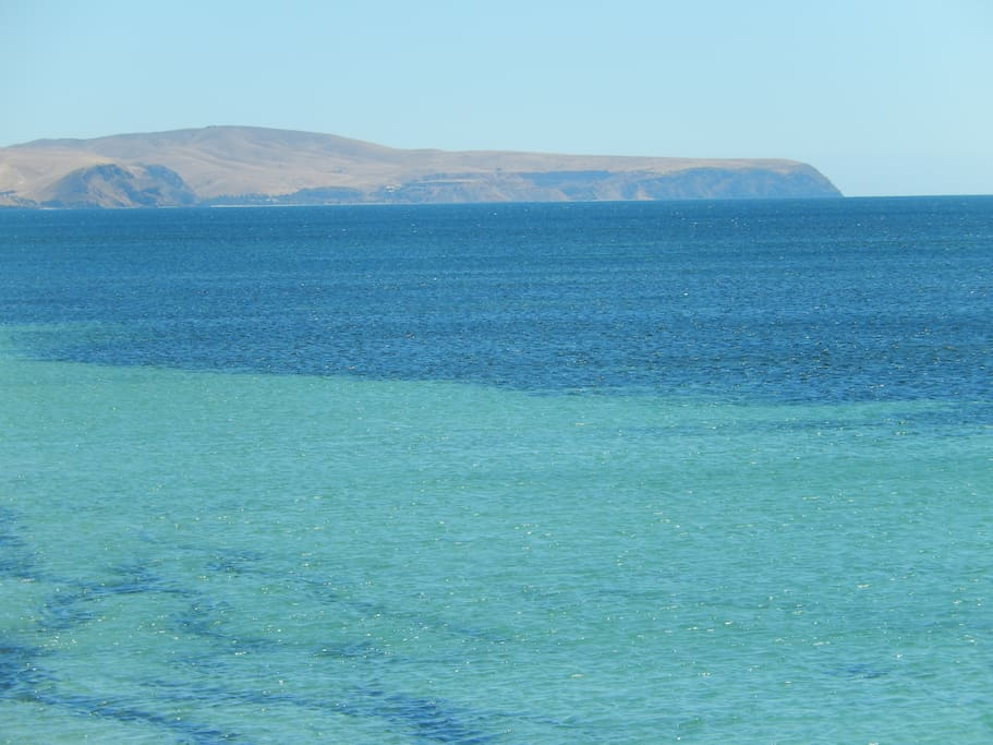 Spectacular landscape sets the backdrop. View from Normanville across to Rapid Bay (near property.)