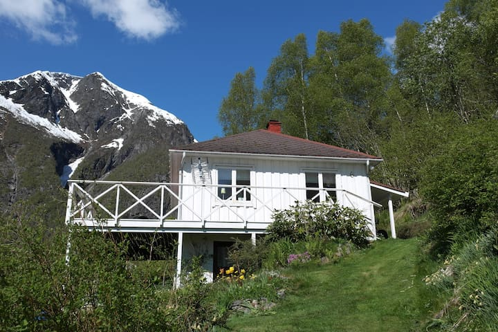 Cabin in the beautiful Esefjord with nice view - Balestrand - Houten huisje