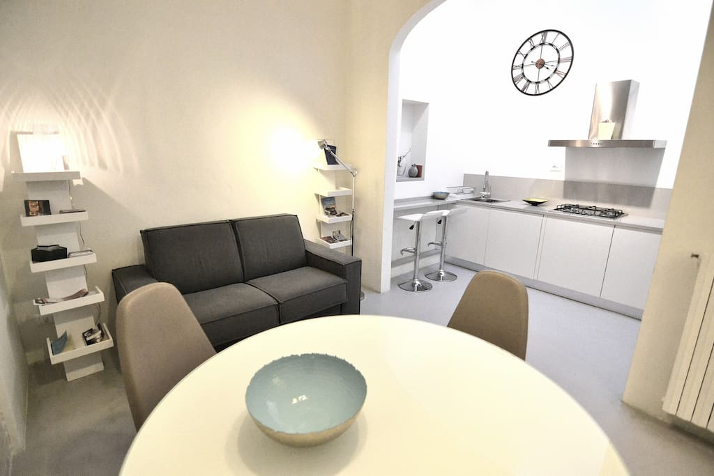 The Living area is very bright and it's perfect for 4 people!