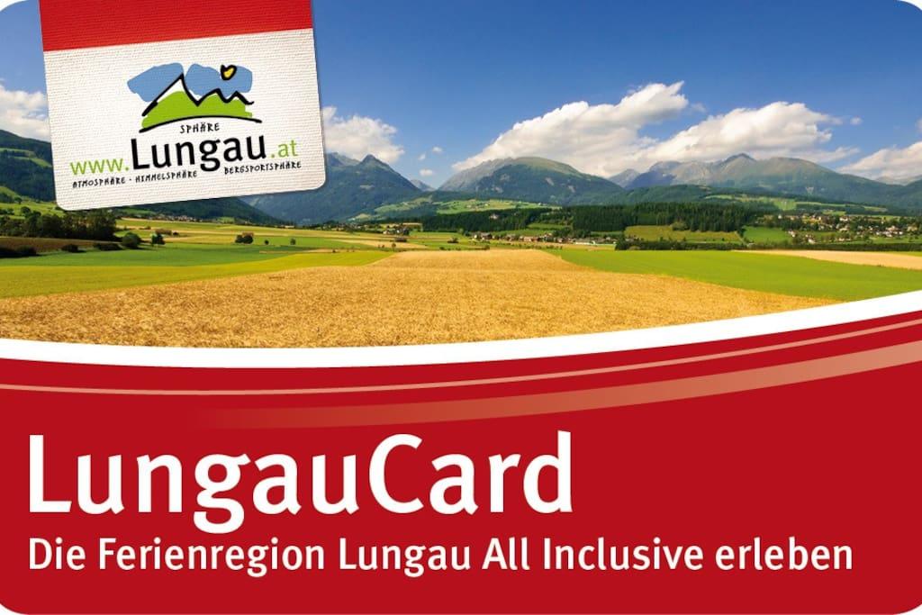 In der Zeit von 1. Juni bis 31. Oktober erhalten Gäste unseres Hauses für die Dauer ihres Aufenthaltes die LungauCard kostenlos!