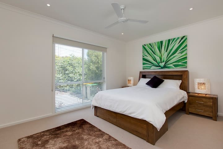 All Bedrooms boast huge area, all brand new bedding and furnishings, and ceiling fans.