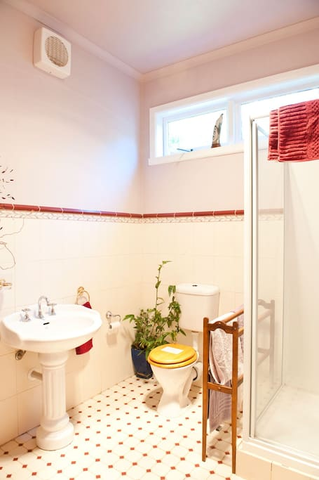 Heritage bathroom, heated towel rail + IXL room heater
