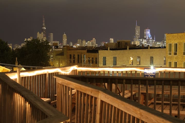 Private room for 4 in Wicker Park hostel - Chicago - Bed & Breakfast
