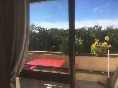 Appartement avec terrasse+ piscine à La Rochelle