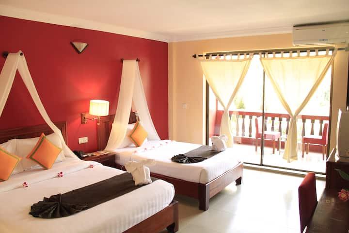 2 Single beds @Mekong Angkor Palace