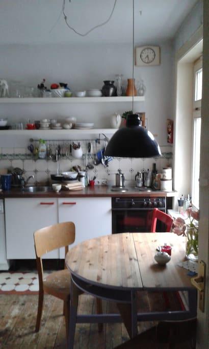 küche. klein und gemütlich.