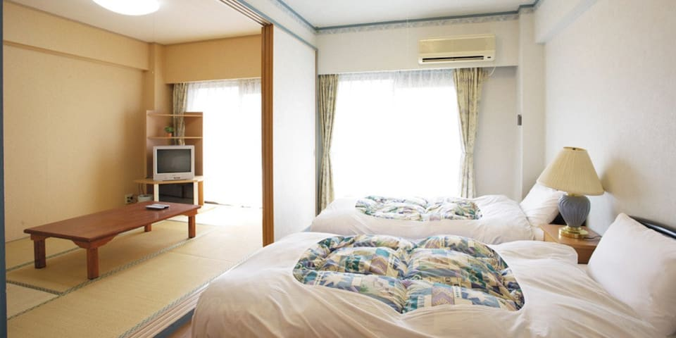 Condominium with chartered hot springs♪伊東温泉,2LDK(和洋室)【From 5 pax】