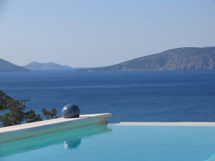 View on the greek sea