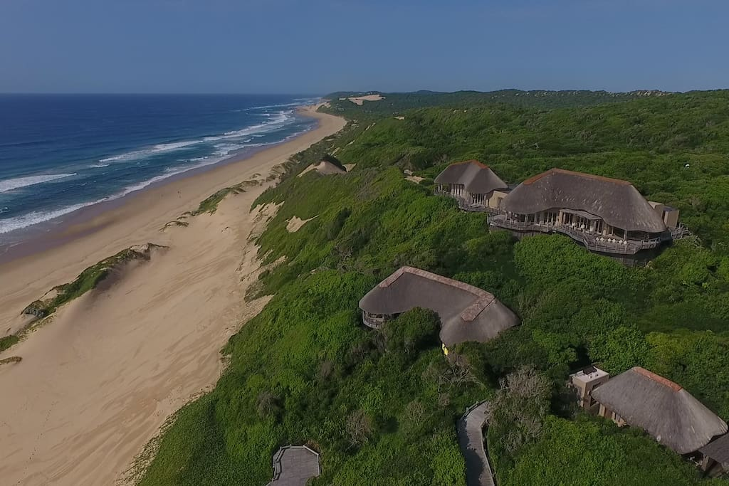 Villa Ukuthula as seen from above. Enjoy exclusive beach access!