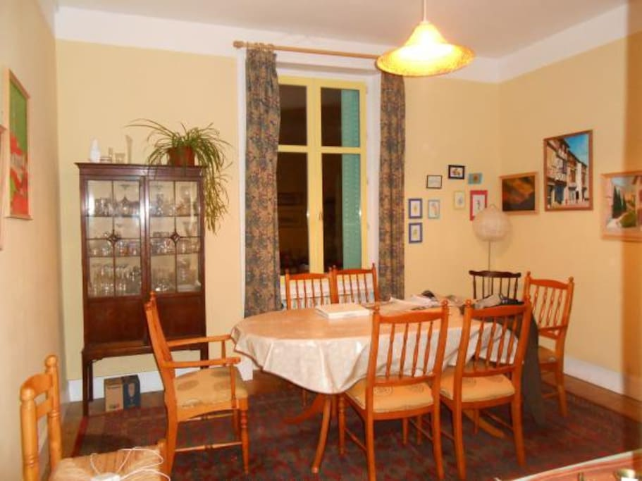 Spacious dining room where you can take your breakfast and evening meal.