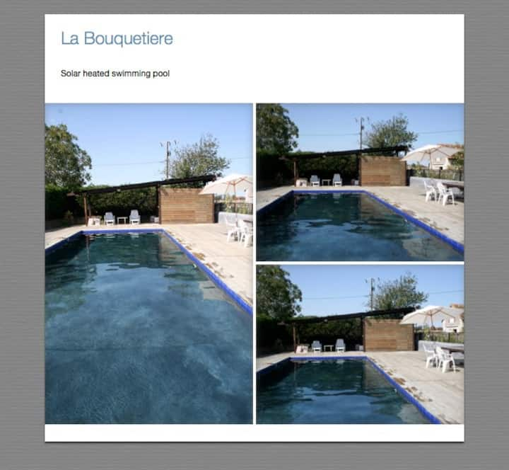 Loire valley stables with  big Pool