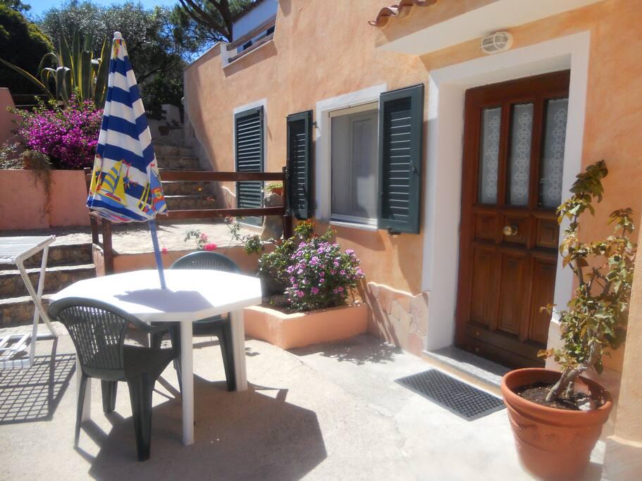 veranda appartamento n1 con 3 posti letto