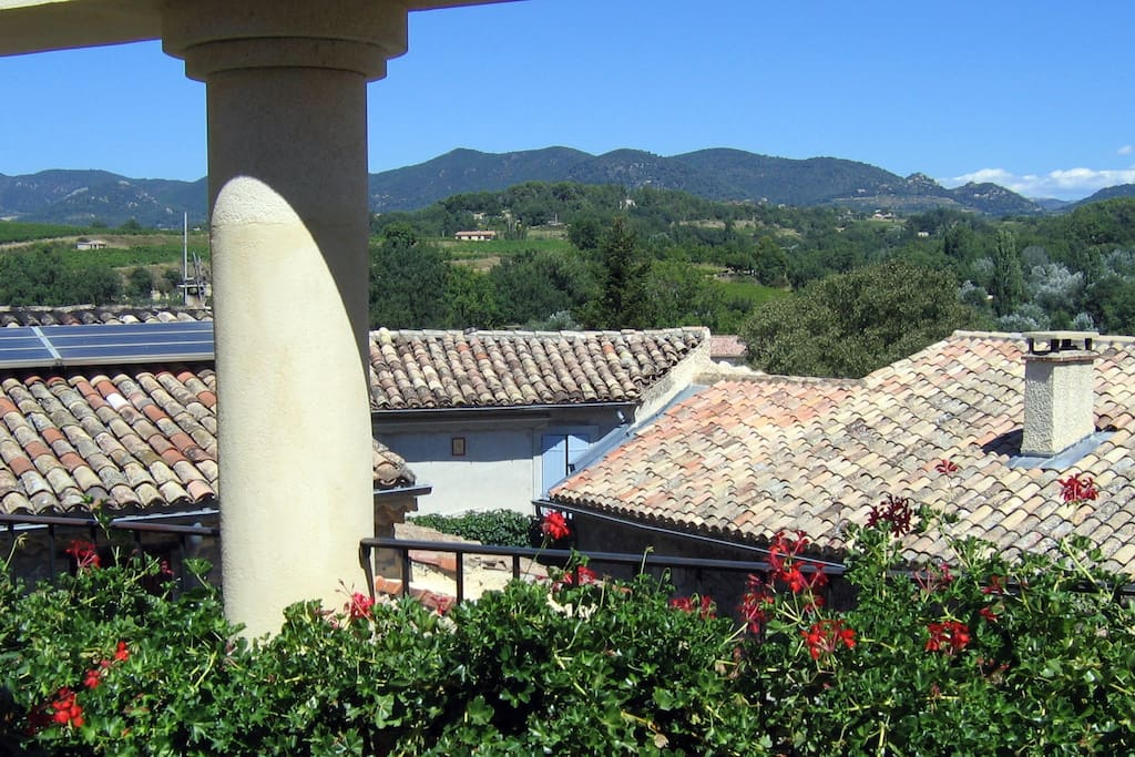 View of the Baronnies mountains from the top terrace.