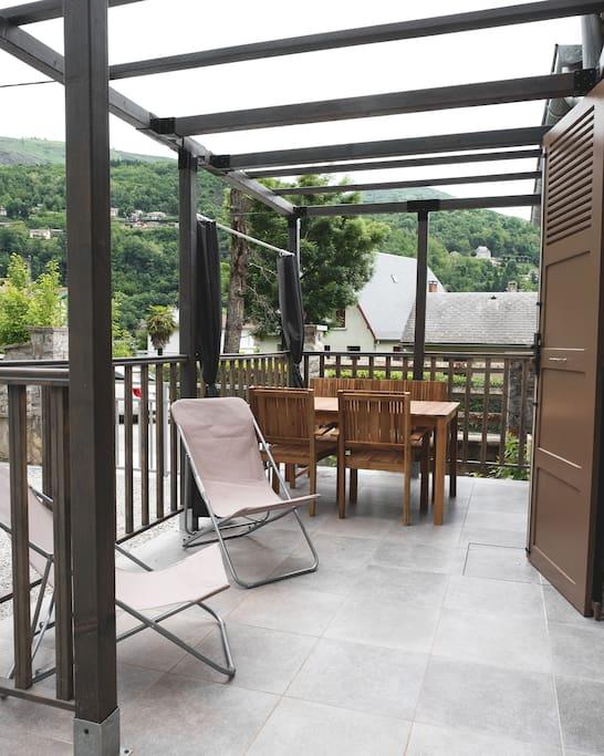 Terrasse privée au gite 4 épis