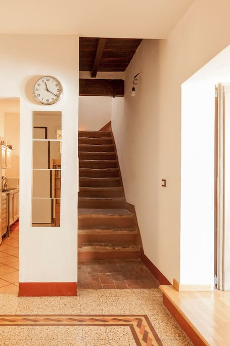 Stairs leading up to your 50sqm suite