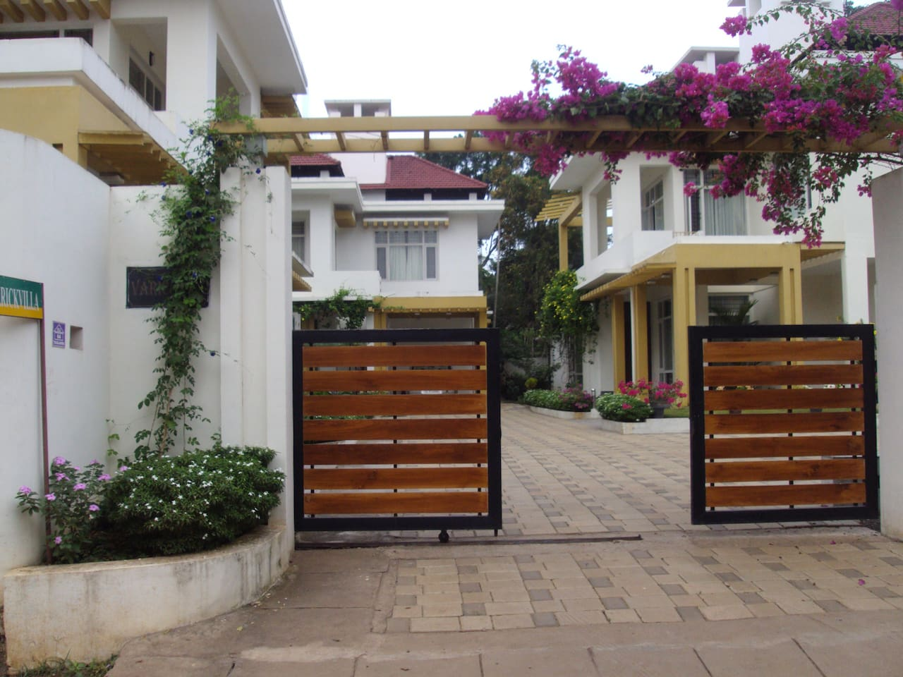 Entrance of the homestay