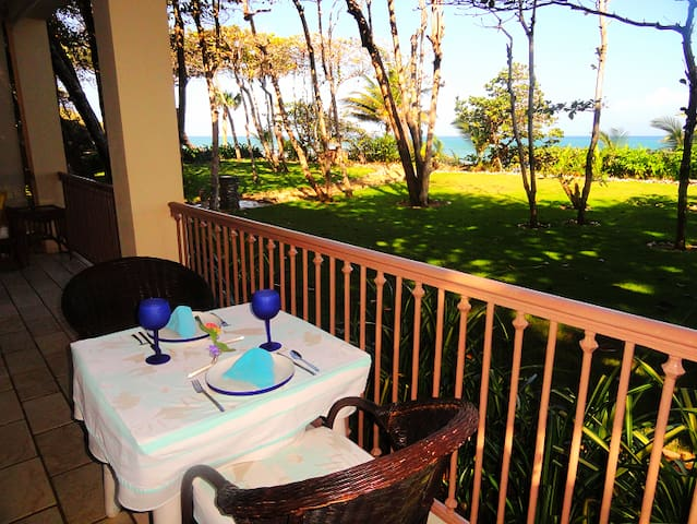 Dine on the terrace watching whales, sunsets and sunrises.