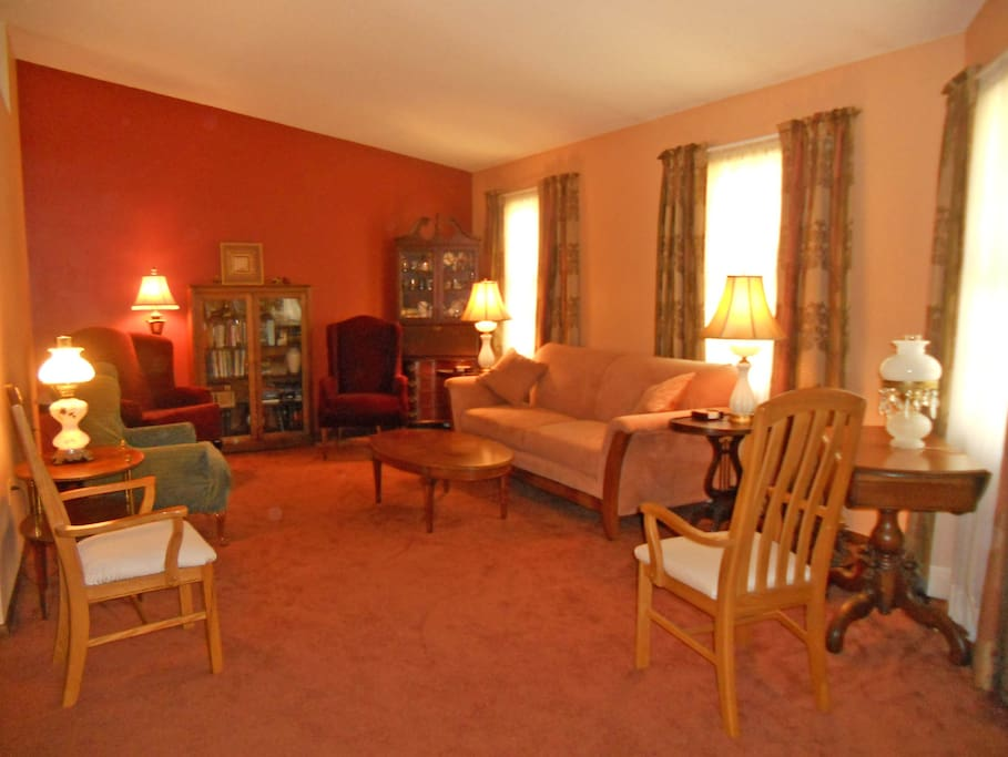Large Living Room with 2 couches. WiFi throughout home.