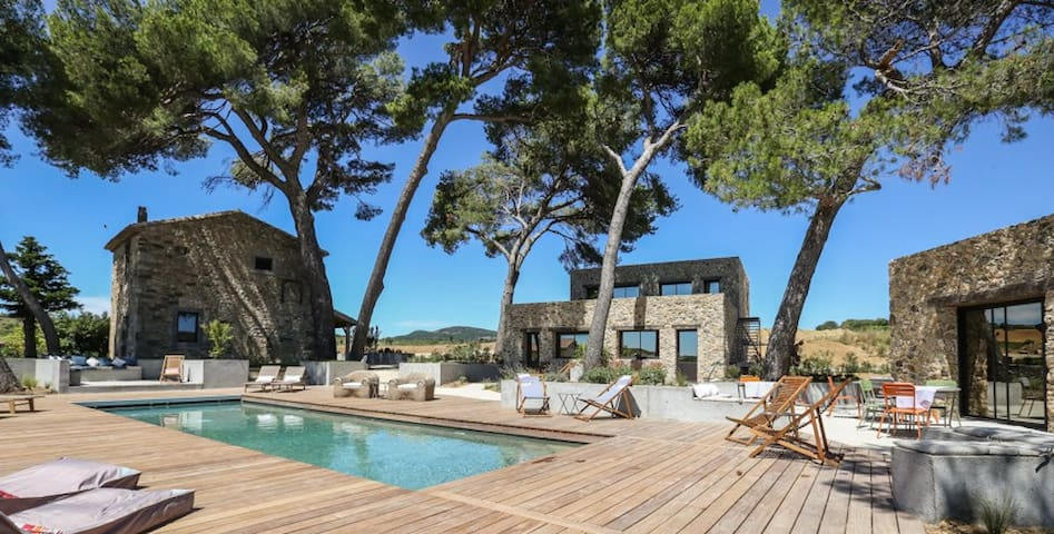 Luxury domaine 6 bedrooms with heated pool