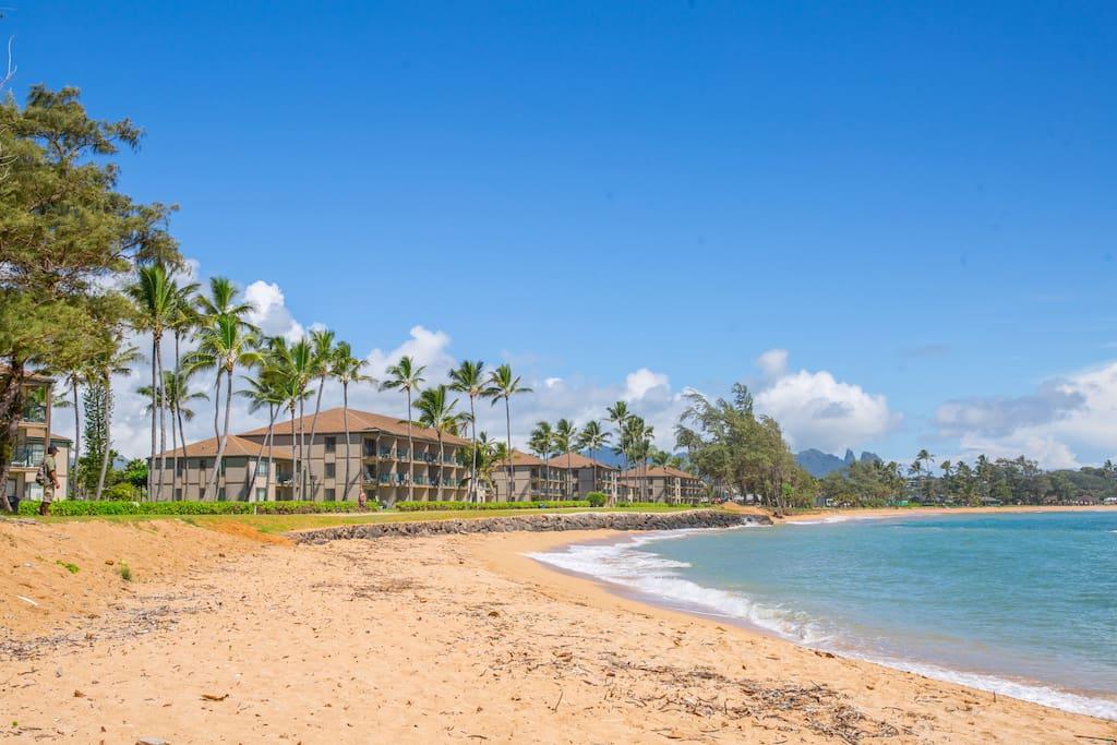 pono kai resort with amenities.  pool, tennis courts etc.