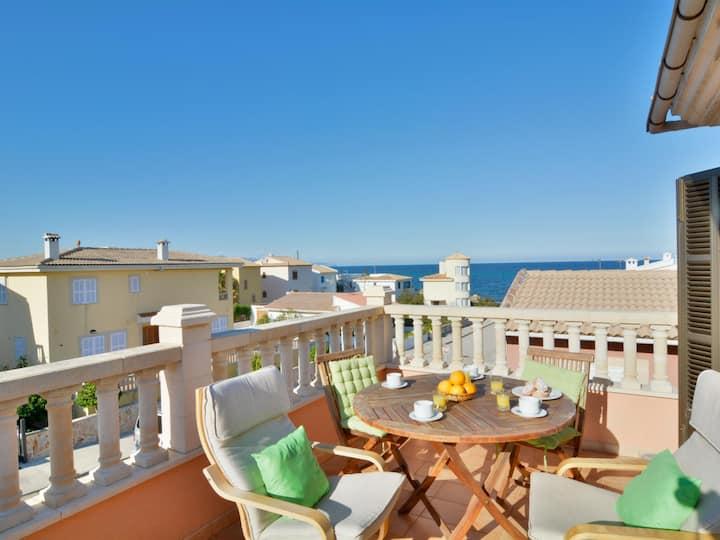 Son Serra beach apartment sea views and terrace