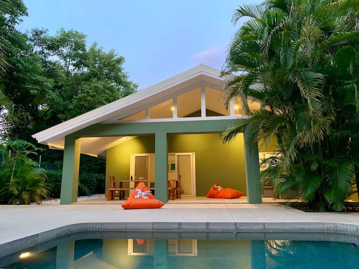 Beautiful Beach Front House with Yoga deck & Pool