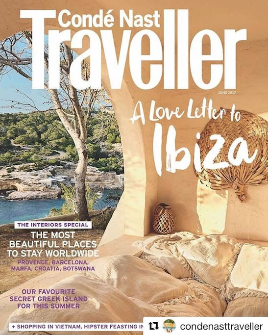 """Featured in Conde Nast Traveller´s  """"Love Letter to Ibiza""""."""