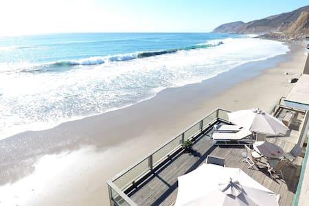 Malibu Beach House 70ft Of Sand On Private Beach