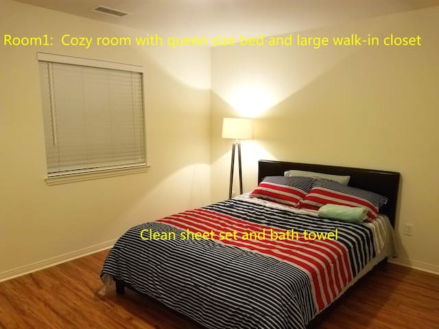 #1 Quiet Cozy Bedoom walk-in closet shared bath - Corona - House