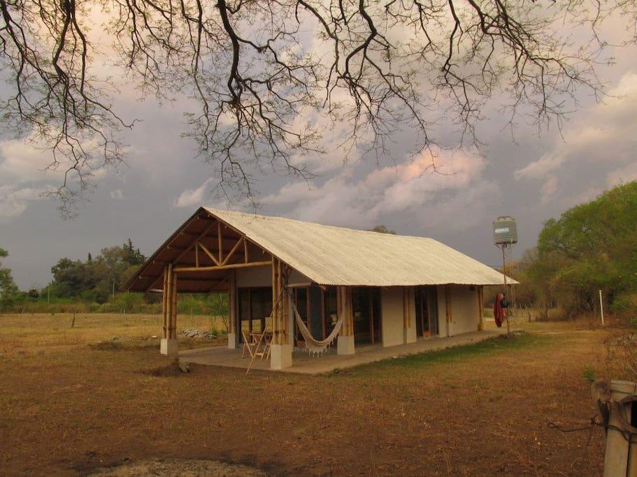 Casa de Bambu, paisaje de invierno