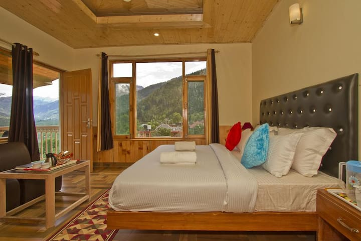 Exotic View Cozy Room Amidst Apple Orchard