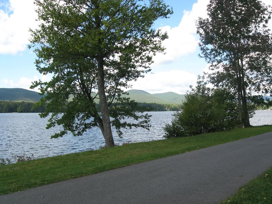 Nearby Lake Onota -- a great walk of about one mile, or a short drive.