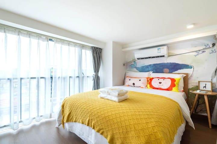 Haiyin City, parent-child warm loft two-bedroom