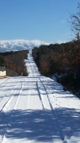 Los caminos de la urbanización en invierno
