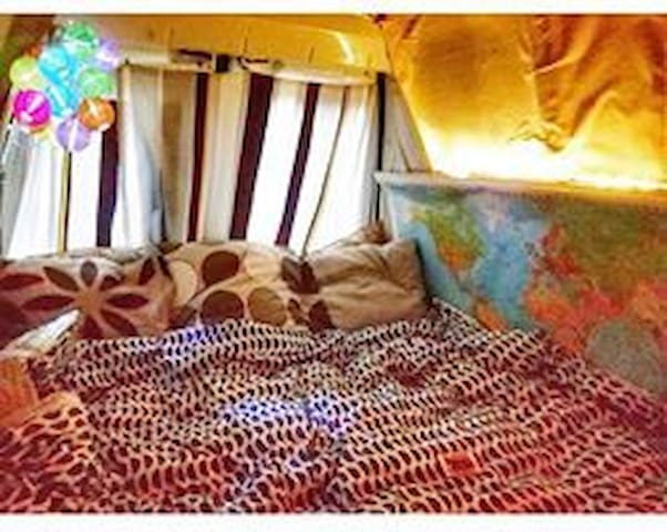 Cozy camper with a bohemian vibe