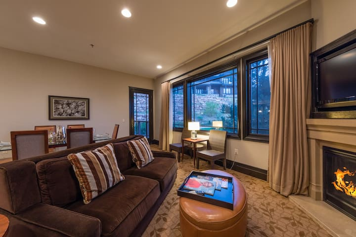 Our three-bedroom Residence has a spacious living room for relaxing and entertaining.