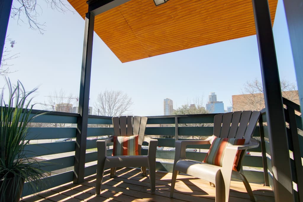 Front porch to enjoy your coffee - downtown views!