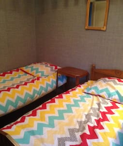 Double bedroom with two single beds - Feytiat