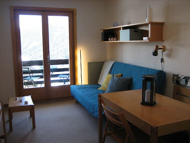 "Studio ""ski in/ski out"" à Bruson (Verbier)"