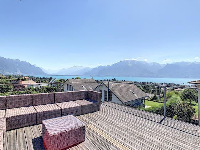 Private studio in villa with magnificent view