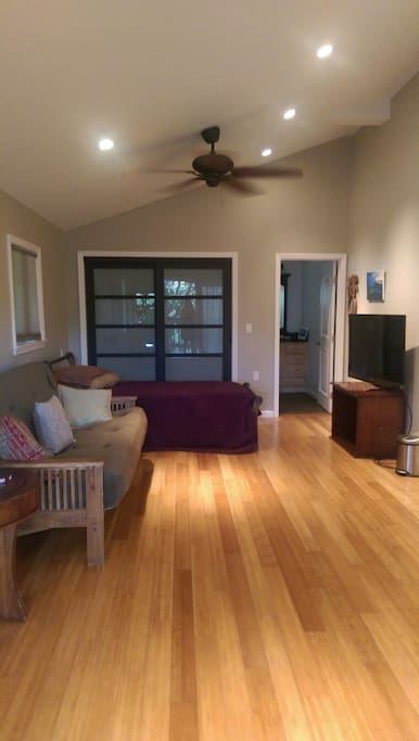 Clean and modern with large private bathroom and private entrance.