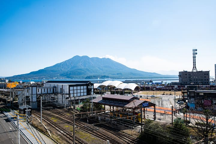 Studio view 桜島みえます!鹿児島観光に最適★ 最大7名様まで