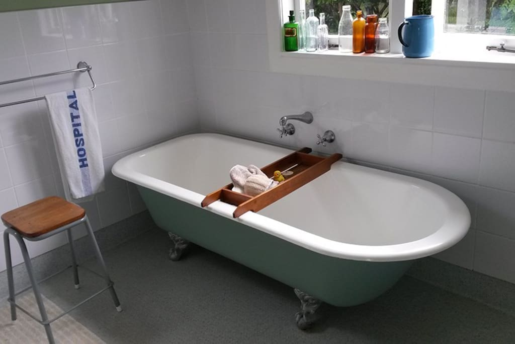 Generous bath, big enough for two...