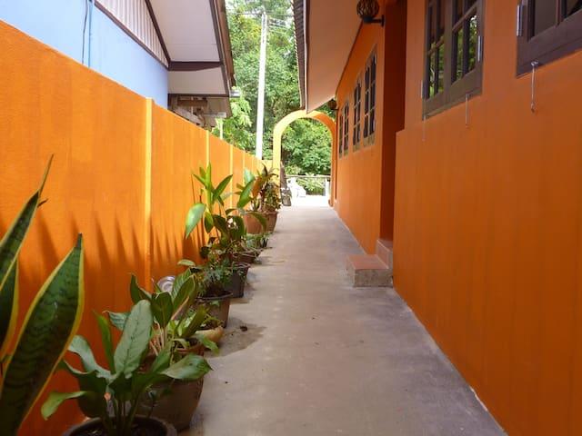 Outside Sapparot Bungalows